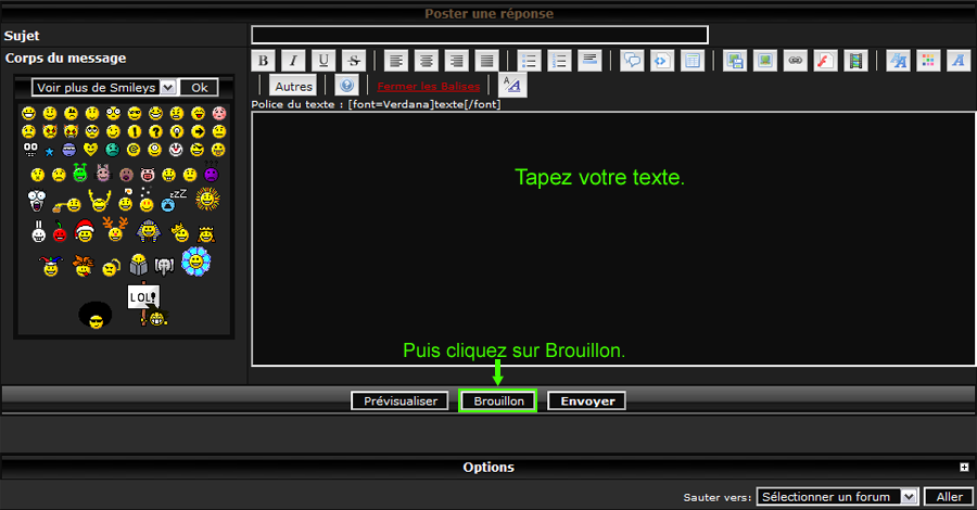 """""""Activer la fonctionnalité des brouillons de message  Activer_la_fonctionnalite_des_brouillons_de_message_3"""